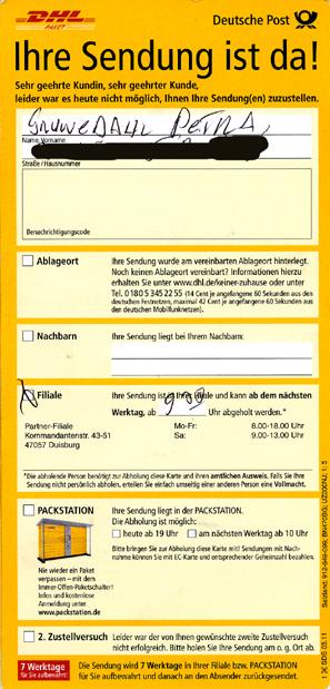 Beschwerde Deutsche Post