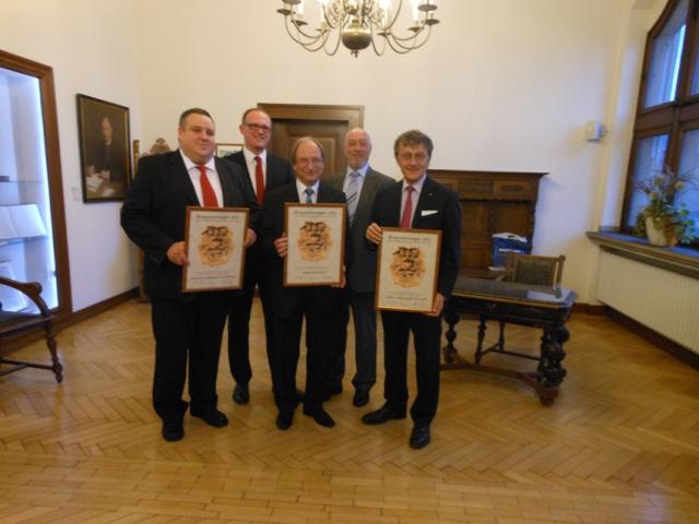 Verleihung der Bürgerehrenwappen 2013 im Rathaus am Burgplatz