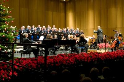 Chor der ThyssenKrupp Jubilaren-Vereinigung beim Weihnachtskonzert. Foto: TKSE.