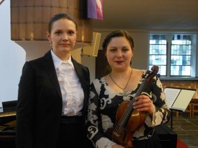 Olga Andryushchenko und Natalia Demina (von links).