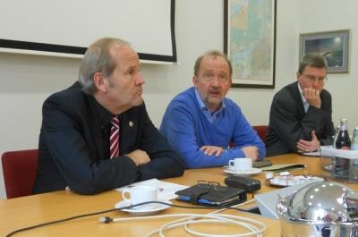 Im Pressegespräch (v. l.): Rainer Bischoff, Armin Schneider, Thomas Krützberg. Foto: Petra Grünendahl.