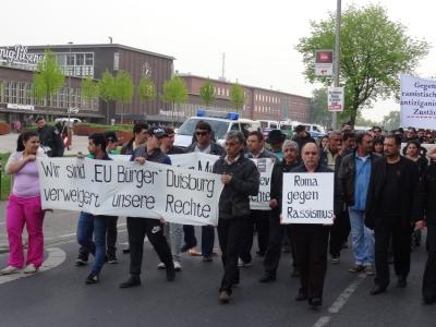 Stimme der Migranten kämpfen gegen Rassismus. Foto: Jürgen Rohn