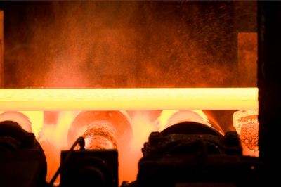 Produktion im Warmbandwerk 2. Foto: ThyssenKrupp Steel Europe AG.