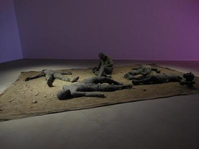 """Duane Hansons """"War"""" oder auch """"Vietnam Piece"""". Fotos: Petra Grünendahl."""