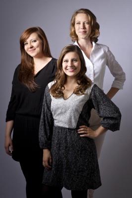 """Die Drei von der Abteilung """"Junges Publikum"""": Anja Fürstenberg, Krysztina Winkel, Anna-Mareike Vohn. Foto: Klaudia Taday."""
