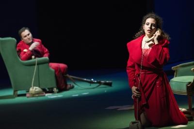 Andrej Dunaev (Werther), Sarah Ferede (Charlotte). Foto: Matthias Jung.
