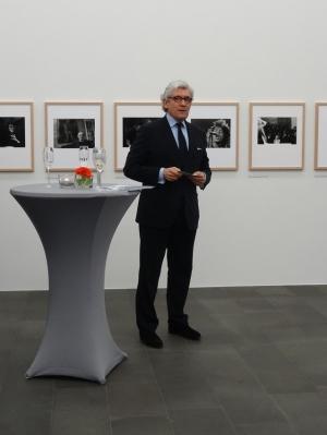 """""""Kulturförderung ist keine Subvention, sondern eine Investition"""", so Prof. Dr. h.c. Walter Smerling (Direktor MKM) beim Neujahrsempfang des Museum Küppersmühle im Innenhafen. Foto: Petra Grünendahl."""