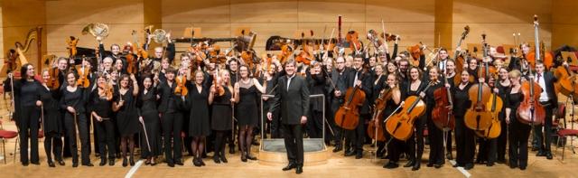 Das Uniorchester 2014 in der Philharmonie Essen. Fato: UDE.