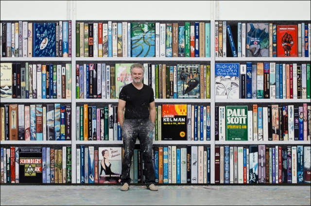 Ralph Fleck vor Man Booker Prize, im neuen Atelier in Kirchzarten, 2011. Foto: Ilse Irmgard Klär.