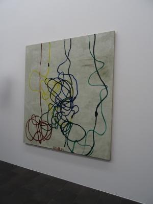"Zang Enli (*1965): ""The Curliness"" (Die Kräuselung). Öl auf Leinwand, 2013. Foto: Petra Grünendahl."