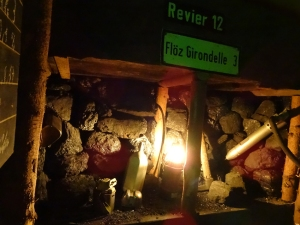 Die Grubenlampe leuchtet am Ende des gesicherten Kohleflözes. Foto: Petra Grünendahl.