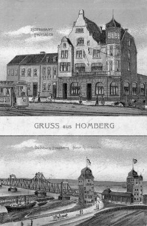 Postkarte von 1914: Oben das