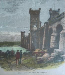 Die erste feste Rheinbrücke läutete ab 1874 eine neue Ära im Eisenbahnverkehr ein. Trajektanstalten mit Fährverbindungen für Güter- oder Personenzüge wurden überflüssig. Die Gleise im Vordergrund des Bildes gibt es heute noch unterhalb der Eisenbahnbrücke auf Hochfelder Seite. Quelle: private Sammlung.