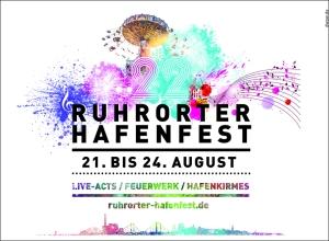 Das Plakat zum Ruhrorter Hafenfest 2015. Gestaltung: dws Werbeagentur.