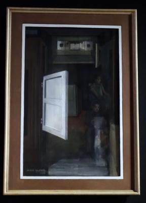 Jorge Iglesias' Figure de murales (2009): Der von den Surrealisten beeinflusste Künstler beschäftigte sich viel mit den physikalischen Eigenschaften von Licht und optischen Phänomenen. Durch bestimmte Techniken gelingt es ihm, eine perfekte Täuschung des menschlichen Auges zu erzeugen. Foto: Petra Grünendahl.