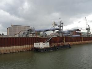 Die neue Salzverladung von Hülskens ging Anfang des Jahres in Betrieb. Foto: Petra Grünendahl.