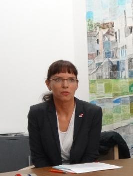 Angelika Wagner, Vorsitzende des DGB Niederrhein und Geschäftsführerin des Bündnisses für Toleranz und Zivilcourage. Foto: Petra Grünendahl.