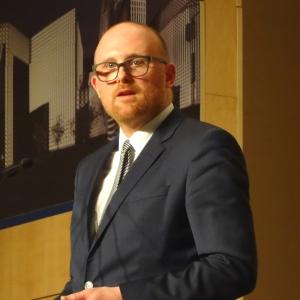 Oberbürgermeister Sören Link bei der Preisverleihung des Duisburger Bündnisses für Toleranz und Zivilcourage. Foto: Petra Grünendahl.