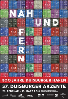 Plakat der 37. Duisburger Akzente. © Duisburger Akzente
