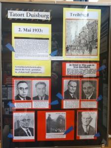 Zerschlagung der Gewerkschaften 1933: Naziterror begann schon kurz nach der Machtergreifung. Foto: Petra Grünendahl.