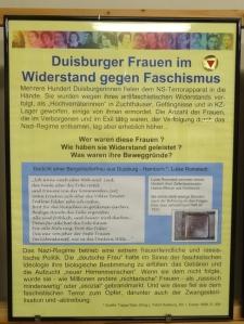 Frauen im Widerstand: Zweiter Pavillon mit moderner Konzeption. Foto: Petra Grünendahl.