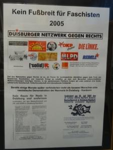 Das Duisburger Netzwerk gegen Rechts ist seit 2005 im Kampf gegen Faschismus in Duisburg aktiv. Foto: Petra Grünendahl.