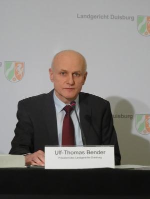 Ulf-Thomas Bender, Präsident des Landgerichts Duisburg. Foto: Petra Grünendahl.