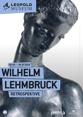 Ausstellungsplakat Wilhelm Lehmbruck. Retrospektive, 2016, © Leopold Museum, Wien.