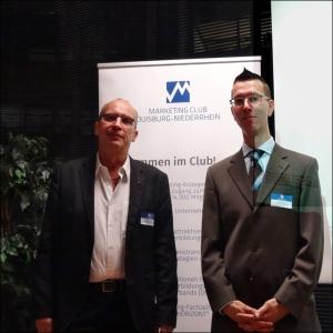 Andreas Ocklenburg, Geschäftsführender Vorstand des Marketing-Clubs, und Gerd Schröder, Geschäftsführer der Agentur K3. Foto: Petra Grünendahl.