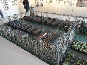 Modell von den Häftlingsbaracken im Lager Esterwegen. Foto: Petra Grünendahl.
